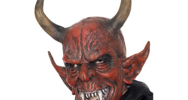 Kostým a maska čerta Krampus  d0687e952fe