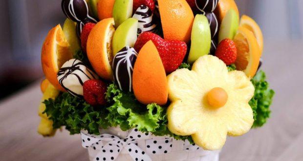 Obdarujte své blízké kyticí z čokolády či ovoce