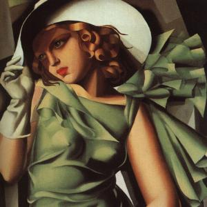 Lempicka_green_dress art deco